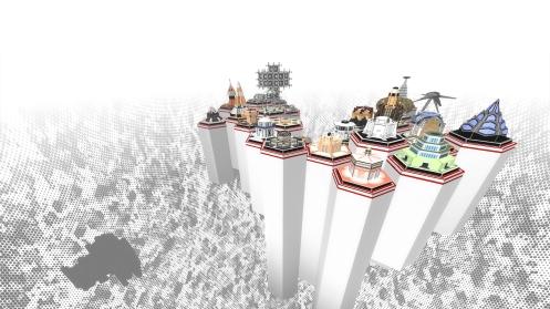 Vue du monde numérique des deux premiers actes - Donatien Aubert
